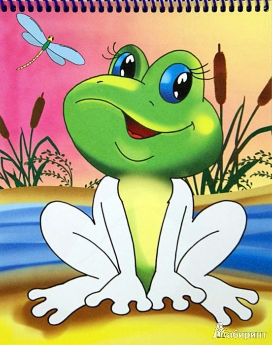 Иллюстрация 1 из 8 для Раскраска на гребне. Лягушка   Лабиринт - книги. Источник: Лабиринт