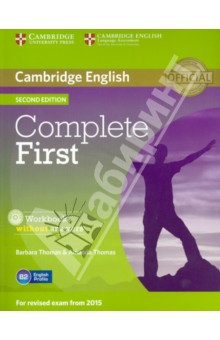 Complete First. Workbook without answers (+CD) complete first 2 edition student s book without answers cd rom