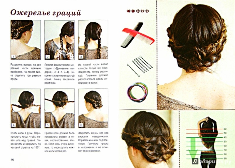 """Иллюстрация 1 из 4 для Простейший способ заплести себе """"Греческую косу"""" + 12 причесок на ее основе - Оксана Романова   Лабиринт - книги. Источник: Лабиринт"""