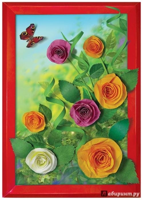 """Иллюстрация 1 из 10 для Набор для творчества. Изготовление картины """"Садовые розы"""" (АБ 14-357)   Лабиринт - игрушки. Источник: Лабиринт"""