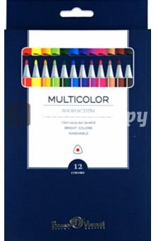 """Фломастеры """"Multicolor"""" (12 цветов) (32-0002)"""