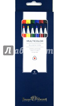Фломастеры Multicolor (6 цветов) (32-0001) блокноты bruno visconti блокнот а5 megapolis flex