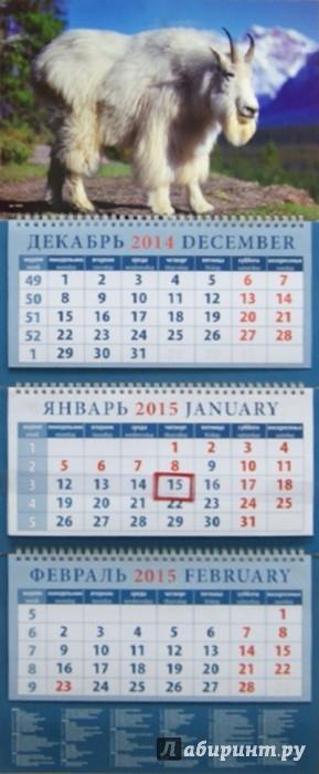 Иллюстрация 1 из 4 для Календарь квартальный 2015. Год козы. Белоснежный горный козел (14503) | Лабиринт - сувениры. Источник: Лабиринт