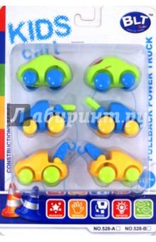 Набор машинок с глазками (6 штук) (528-В3)
