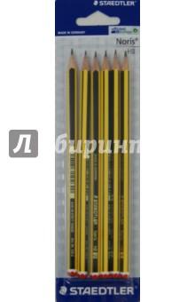 Карандаш чернографитный Noris (HB, 6 штук) (120)