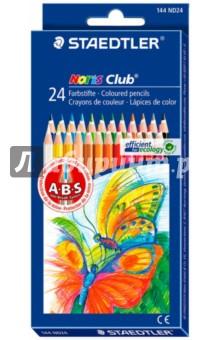 """Карандаши цветные """"Noris Club"""" (24 цвета) (144ND24)"""