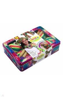 Набор для  вязания спицами Разноцветные шарф (182T)