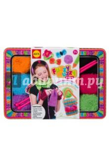 Набор для вязания спицами.Модные вещи из пушистой пряжи (187T) подарок девочке на 6 лет