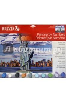 """Набор для раскрашивания по номерам акриловыми красками большой """"Статуя Свободы"""" (PL/95)"""