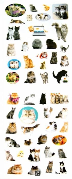 Иллюстрация 1 из 13 для 100 наклеек. Любимые кошки   Лабиринт - книги. Источник: Лабиринт
