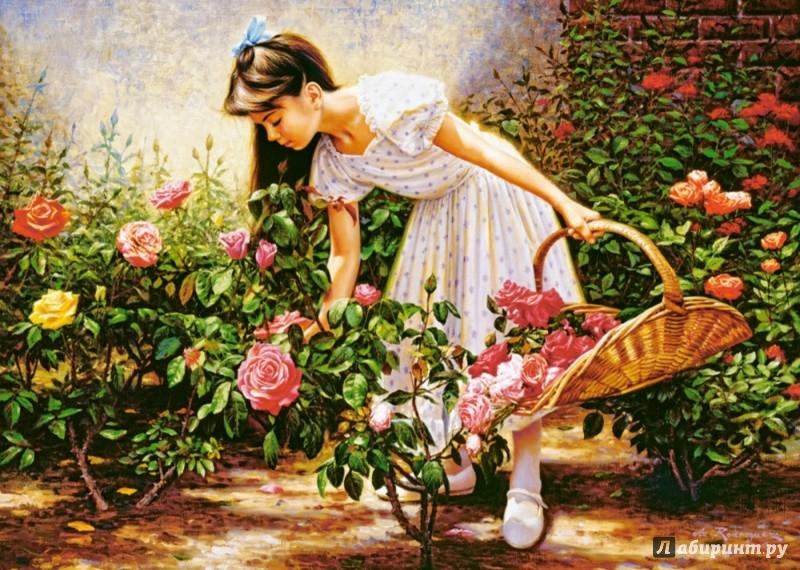 """Иллюстрация 1 из 10 для Puzzle-1000 """"В саду роз"""" (C-103126)   Лабиринт - игрушки. Источник: Лабиринт"""