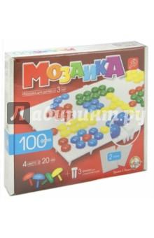 Мозаика (d=20, 4 цвета, 100 штук, 2 поля) (00979)
