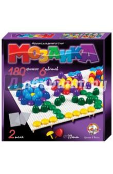 Мозаика (d=20, 6 цветов, 180 штук, 2 поля) (2007) игра мозаика с аппликацией медовая сказка d10 d15 d20 105 5 цв 6 аппл 2 поля