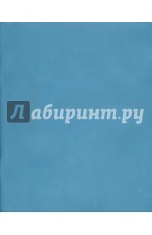 Тетрадь с пластиковой обложкой, 12 листов, косая линейка, синяя (120108)