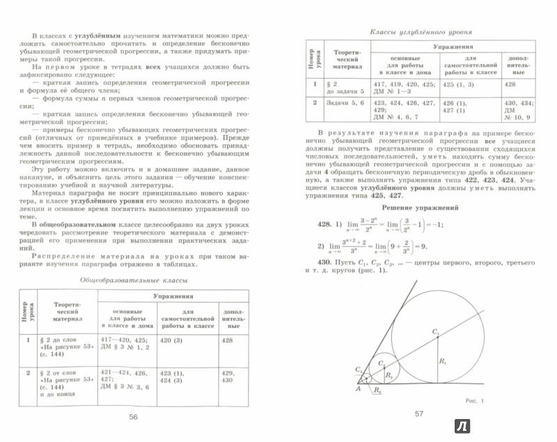 Иллюстрация 1 из 5 для Алгебра и начала математического анализа. 10 класс. Методические рекомендации. Пособие для учителей - Федорова, Ткачева | Лабиринт - книги. Источник: Лабиринт