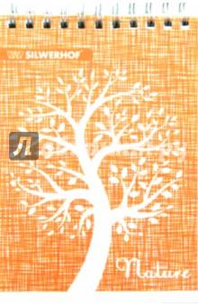 Блокнот РИСОВАНЫЕ ДЕРЕВЬЯ (80 листов, А6, клетка, гребень) (731153-76)