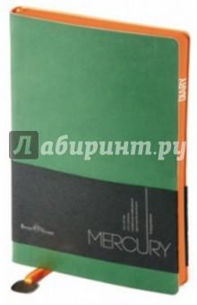 """Ежедневник недатированный """"Mercury"""" (А5, зеленый) (3-435/03)"""