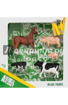 Набор игровых фигур Animal Planet (5 штук, Ферма) (387301) barneybuddy barneybuddy игрушки для ванны стикеры веселая ферма