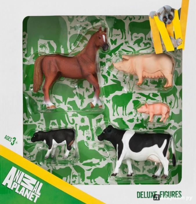 Иллюстрация 1 из 6 для Набор игровых фигур Animal Planet (5 штук, Ферма) (387301) | Лабиринт - игрушки. Источник: Лабиринт