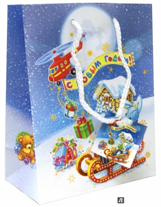 Иллюстрация 1 из 3 для Пакет бумажный новогодний (18х23х10 см) (35096) | Лабиринт - сувениры. Источник: Лабиринт