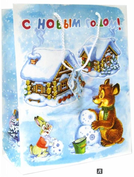 Иллюстрация 1 из 4 для Пакет бумажный новогодний (26х33х13 см) (35211) | Лабиринт - сувениры. Источник: Лабиринт