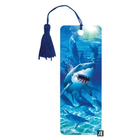 """Иллюстрация 1 из 5 для 3D закладка для книг с линейкой """"Акула"""" (125751)   Лабиринт - канцтовы. Источник: Лабиринт"""