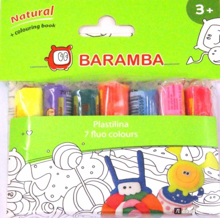 Иллюстрация 1 из 2 для Пластилин флуоресцентный + раскраска (7 цветов х 14 гр) (B26007A) | Лабиринт - игрушки. Источник: Лабиринт
