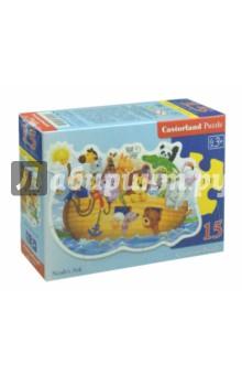 Купить Puzzle-15 Ноев ковчег (B-015054), Castorland, Пазлы (12-50 элементов)