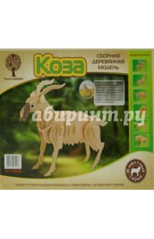Сборная деревянная модель Коза (M008), ВГА, Сборные 3D модели из дерева неокрашенные макси  - купить со скидкой