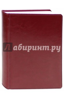 Ежедневник недатированный, Небраска, А6, бордо (799106254) brunnen ежедневник датированный вояж размер блока 10х19 3 см ля фонтейн бордо