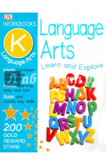Language Arts.  Kindergarten. Dorling Kindersley Workbook cigar box shape 1 0 lcd electric thermometer humidity meter black 1 x ag13