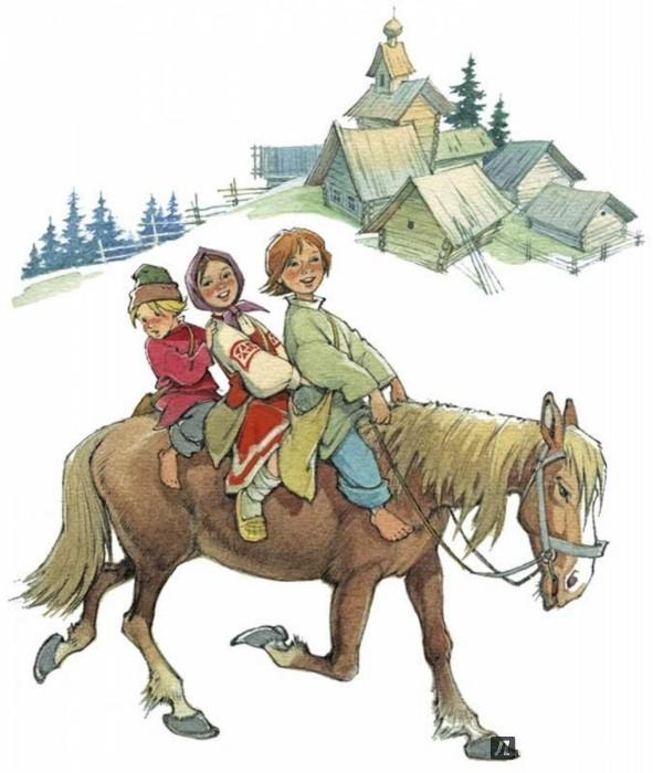 Иллюстрация 1 из 40 для Николенька-гусачок. Русские песенки   Лабиринт - книги. Источник: Лабиринт
