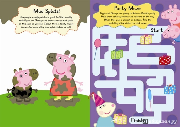 Иллюстрация 1 из 7 для Peppa and George's Shiny Sticker Play Book | Лабиринт - книги. Источник: Лабиринт