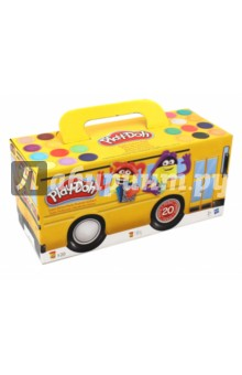 Набор пластилина 20 банок PLAY-DOH (A7924) пластилин play doh plus в банках 8 цветов