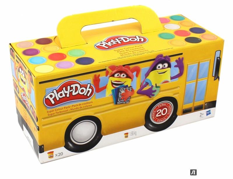 Иллюстрация 1 из 8 для Набор пластилина 20 банок PLAY-DOH (A7924) | Лабиринт - игрушки. Источник: Лабиринт