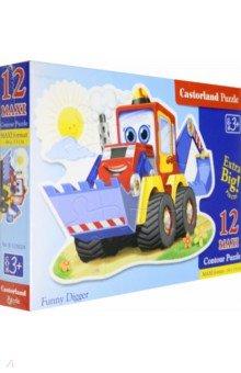 """Puzzle-12 MAXI """"Забавный экскаватор"""" (В-120024) Castorland"""