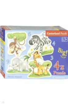 "Puzzle-3х4х6х9 ""Африканские животные"" (В-005017)"