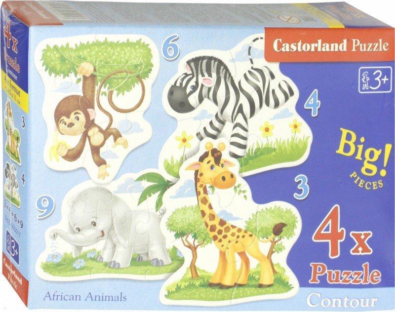 """Иллюстрация 1 из 9 для Puzzle-3х4х6х9 """"Африканские животные"""" (В-005017)   Лабиринт - игрушки. Источник: Лабиринт"""
