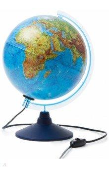 Глобус Земли физико-политический (с подсветкой, диаметр 250) (ГЗ-250ф-пп)