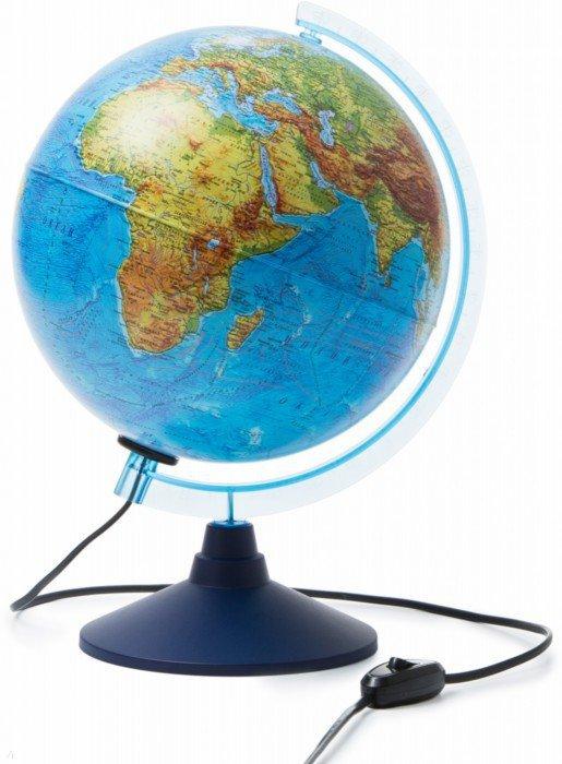 Иллюстрация 1 из 19 для Глобус Земли физико-политический (с подсветкой, диаметр 250) (ГЗ-250ф-пп)   Лабиринт - канцтовы. Источник: Лабиринт