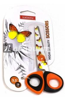 Ножницы детские школьные БАБОЧКИ, цвет в ассортименте (SP 6008)