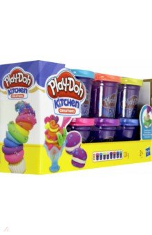Купить Набор Play-Doh PLUS (8 банок) (A1206Е24), Hasbro, Пластилин 4—10 цветов