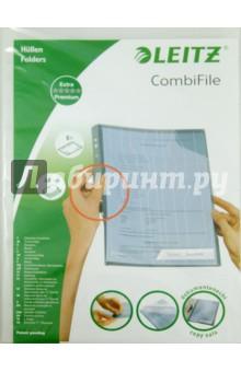 Папка-уголок A4, прозрачная, 5 шт. (47260003) вкладыш уголок с перфорацией leitz combifile ф а4 5 шт 200 мкм синий 47260035