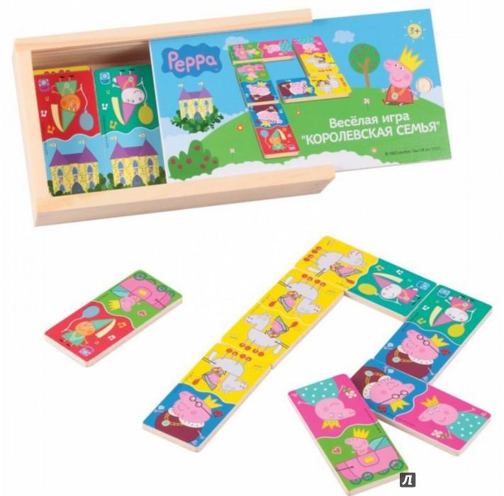 """Иллюстрация 1 из 2 для Домино """"Peppa Pig. Королевская семья"""" (дерево) (24439)   Лабиринт - игрушки. Источник: Лабиринт"""