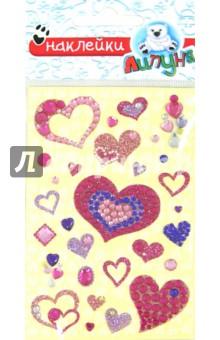 Хрустальные наклейки Сердца 2 (RSS017)