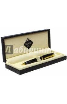 Ручка шариковая, цвет корпуса черный с золотистой отделкой (120702) Protege Paris S.A.