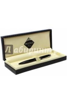 Ручка шариковая, цвет корпуса черный с серебристой отделкой (443002) Protege Paris S.A.