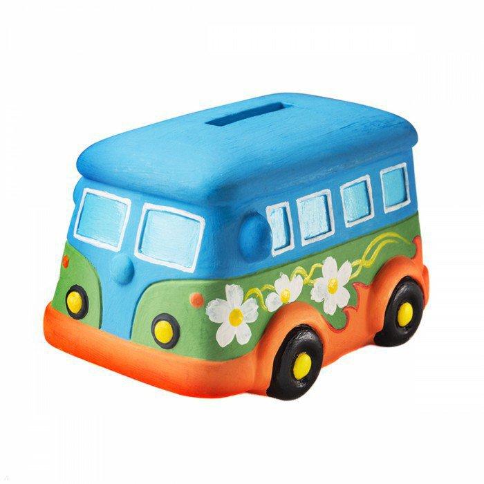 Иллюстрация 1 из 7 для Копилка-раскраска. Автобус (DIY013) | Лабиринт - игрушки. Источник: Лабиринт