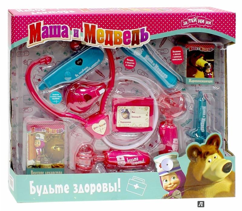 Иллюстрация 1 из 2 для Набор доктора Маша и Медведь (9 предметов) (GT8201) | Лабиринт - игрушки. Источник: Лабиринт