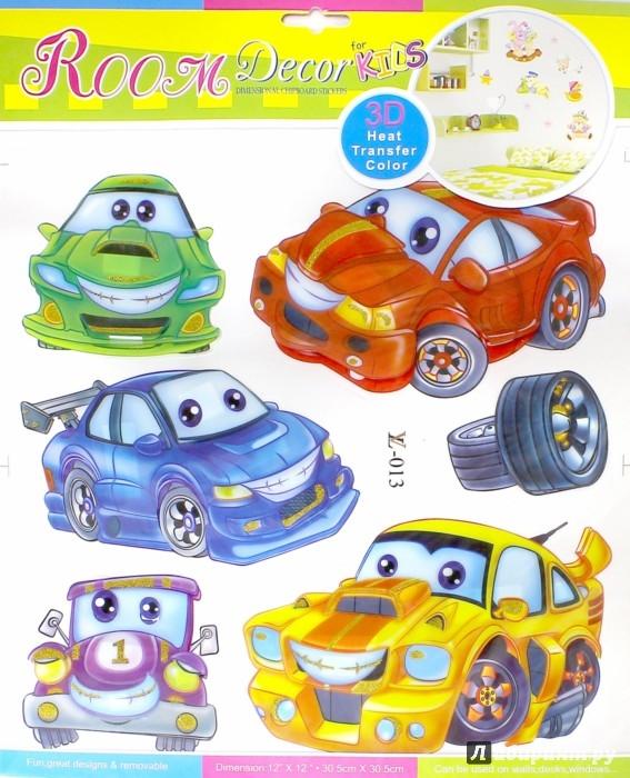 Иллюстрация 1 из 3 для Наклейки на стену. Веселые машинки (LV-013)   Лабиринт - игрушки. Источник: Лабиринт